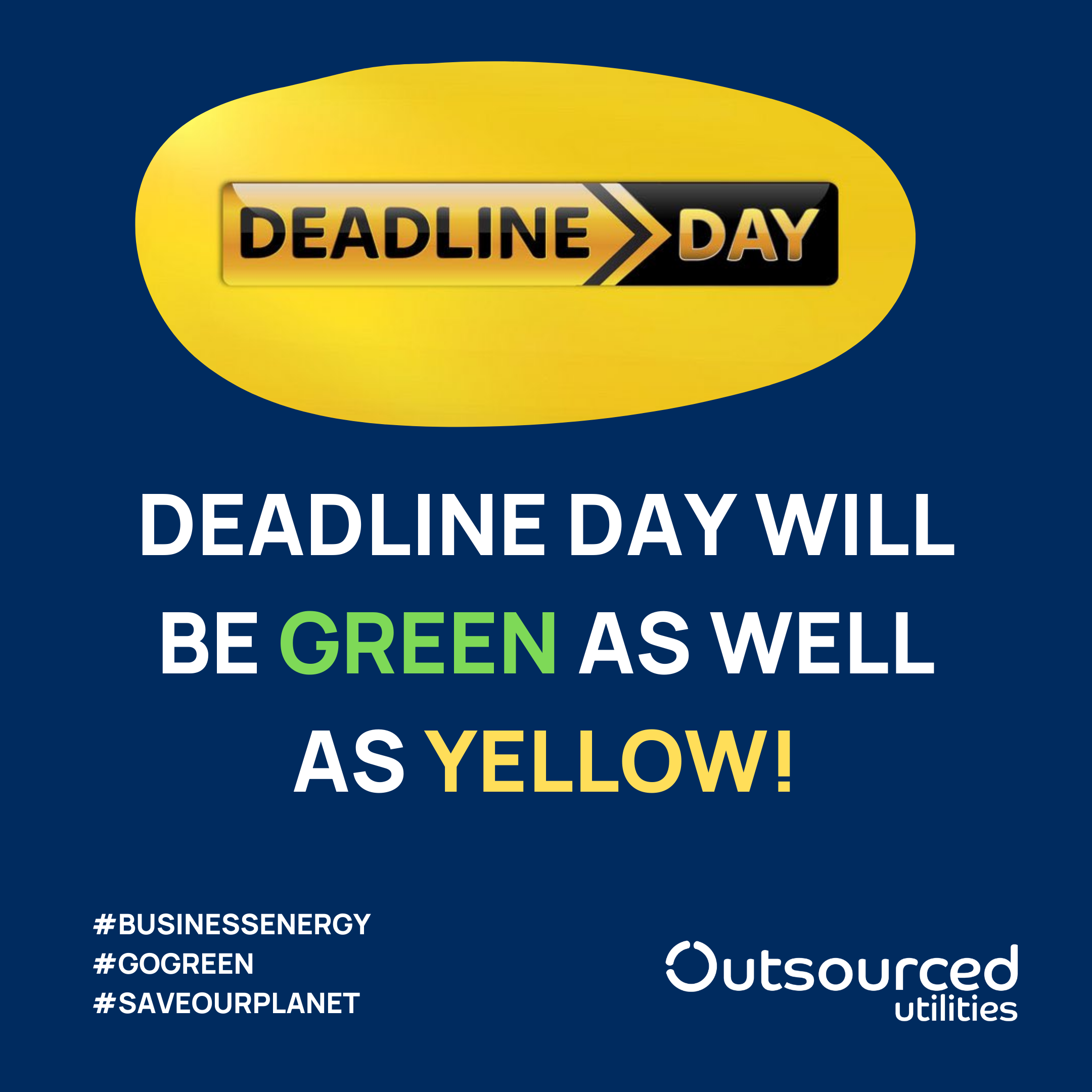 Sky Sports News Deadline Day - Green and Yellow